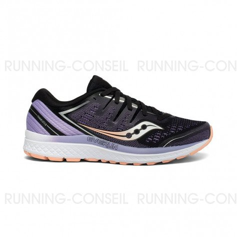 SAUCONY GUIDE ISO 2 Femme | Black / Purple