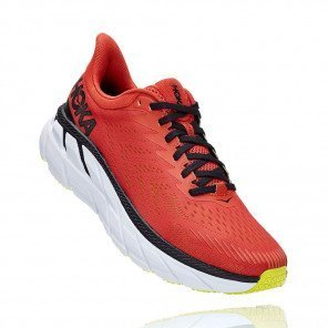 HOKA CLIFTON 7 Homme - CHILI / BLACK